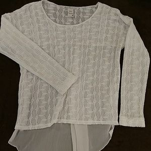 American Rag lightweight white sheer sweater